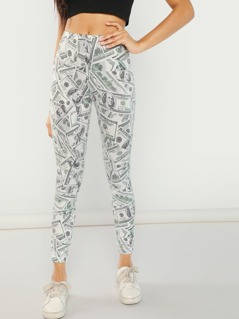Money Print Leggings