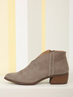 Pointed Toe Faux Suede Booties
