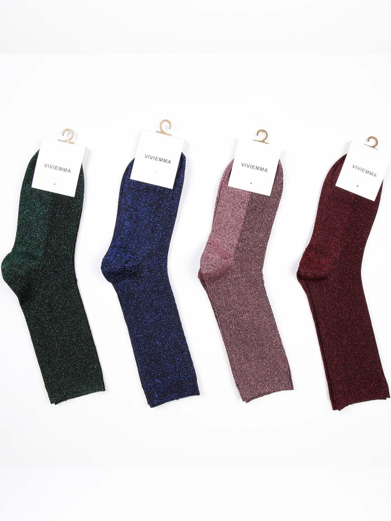 Glitter Kalb Länge Socken 4pairs