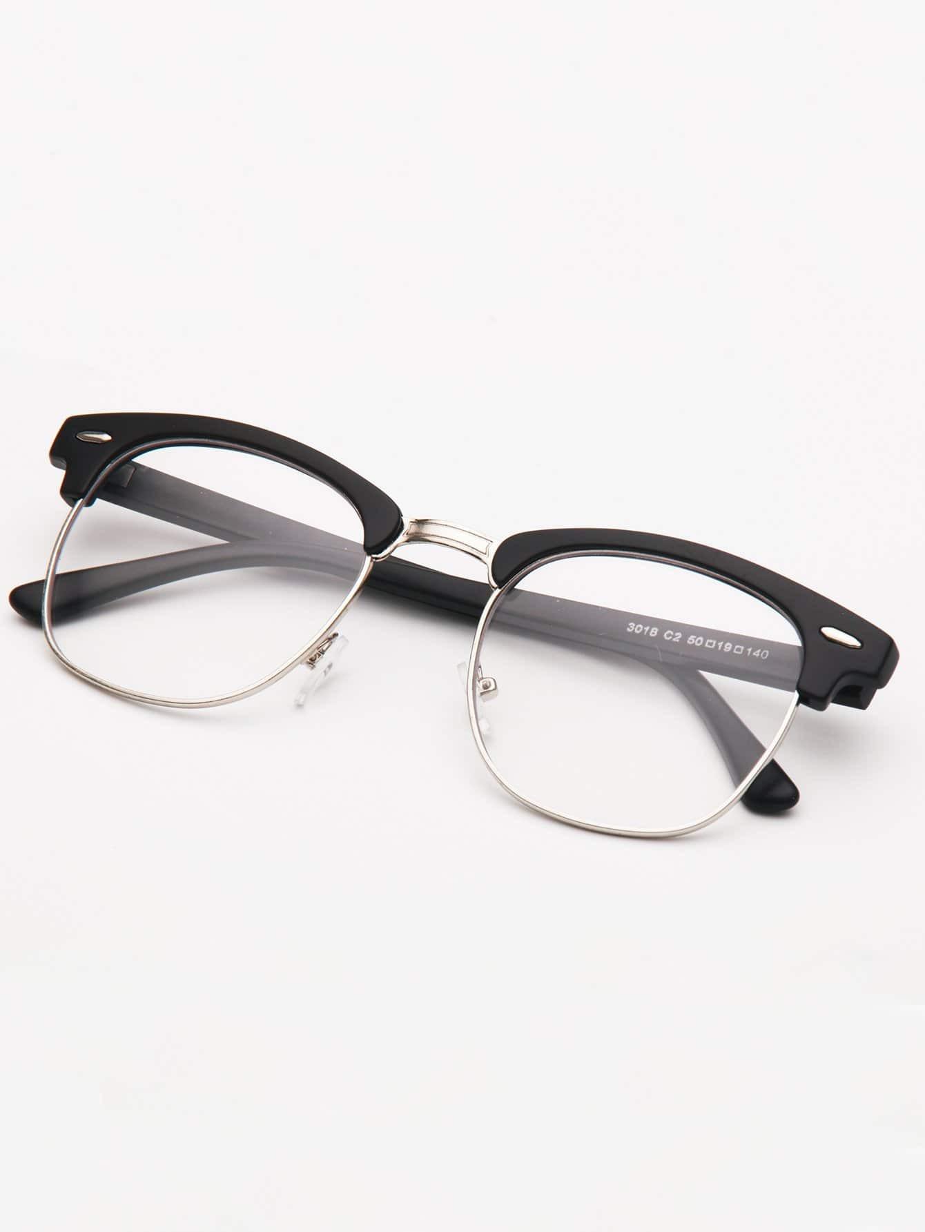 цена Men Semi Rimless Glasses