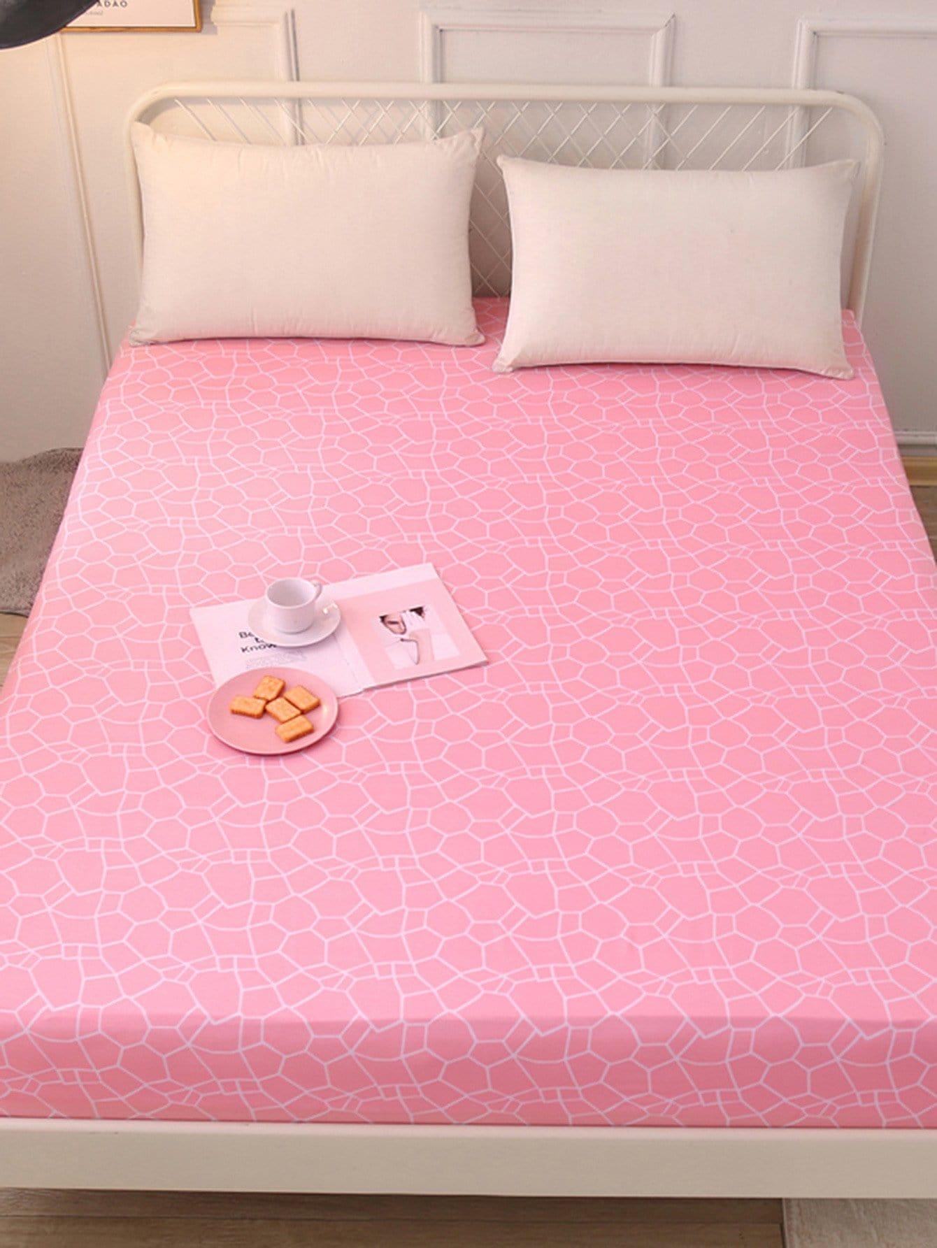 Купить Удобное постельное бельё с рисунками геометрических фигур 1 шт, null, SheIn
