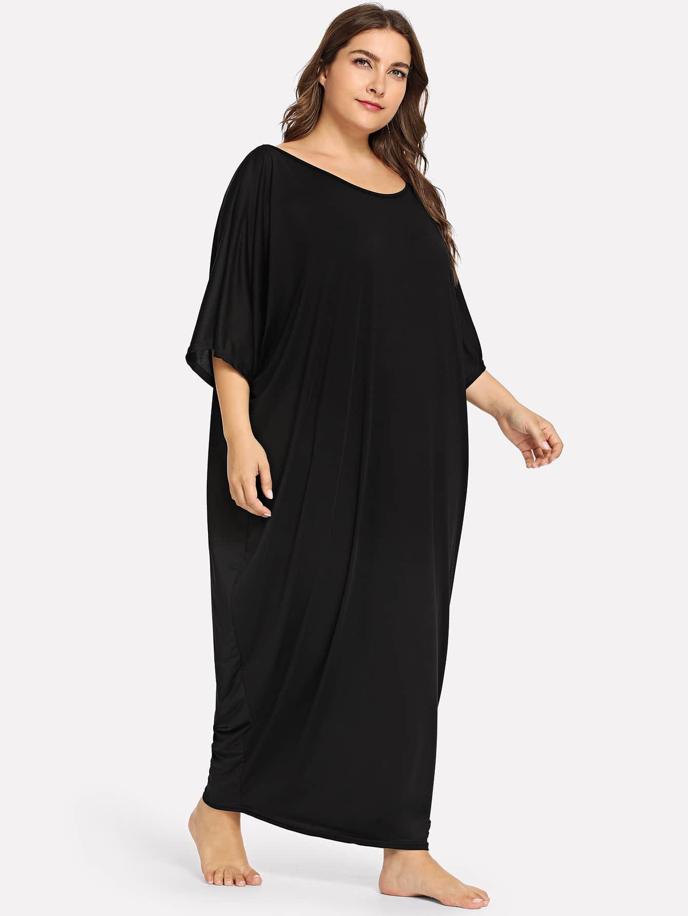 Купить Большая простая длинная ночная сорочка, Franziska, SheIn