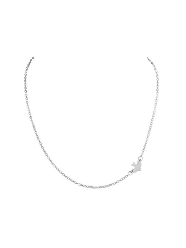 Silver Gold Color Swallows Thin Chain Necklaces