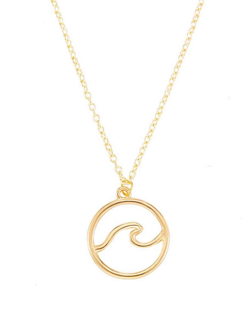 Circle Pendant Chain Necklace, Gold