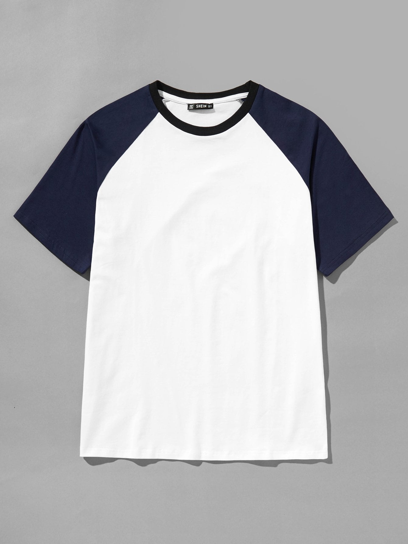 Купить Мужская футболка с длинным рукавом Raglan, null, SheIn
