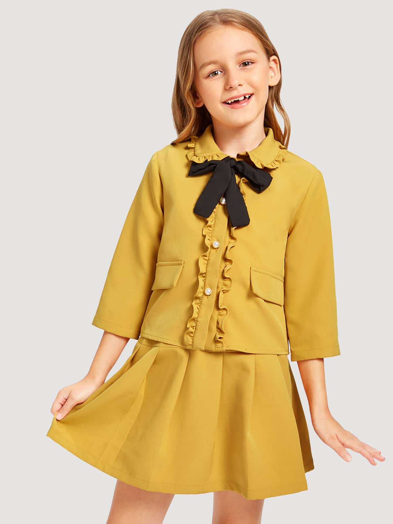 Купить Верхняя одежда и юбка для девочек, Sashab, SheIn