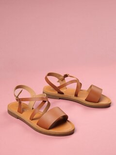Toddlers Criss Cross Strap Sandals
