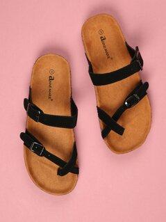 Toddlers Double Buckle Strap Sandals
