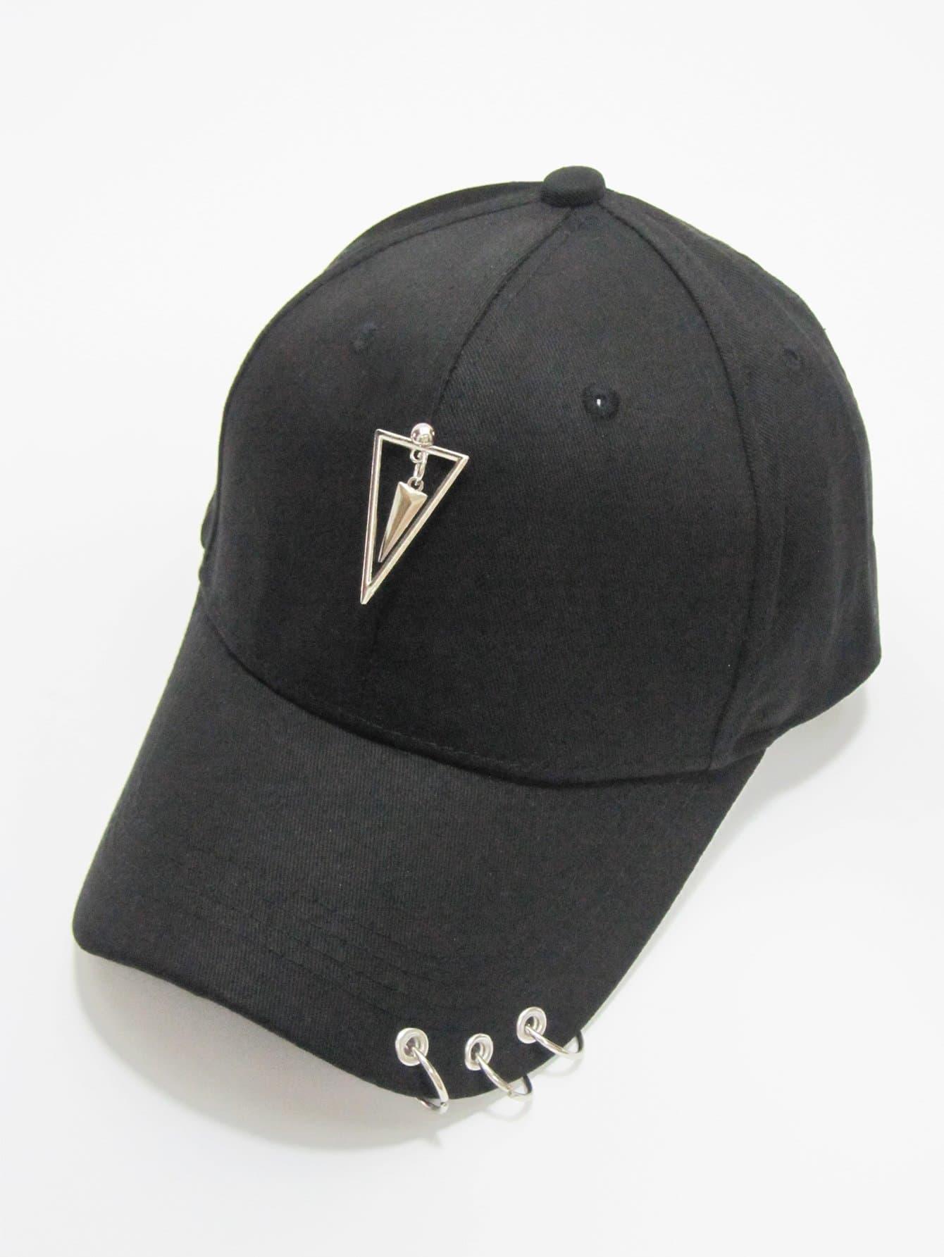 Купить Бейсболка с украшением треугольника для мужчины, null, SheIn