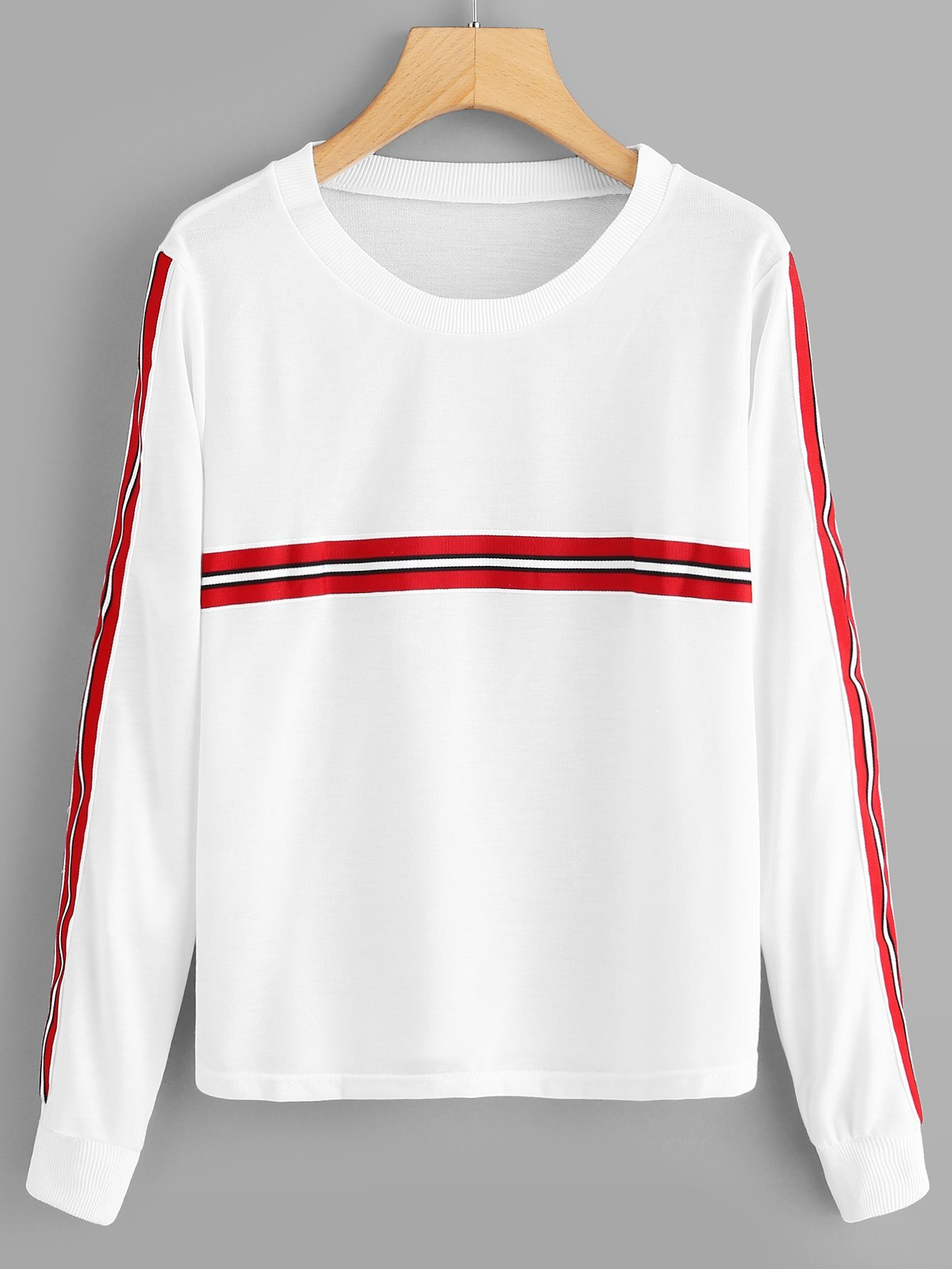 Striped Tape Panel Sweatshirt