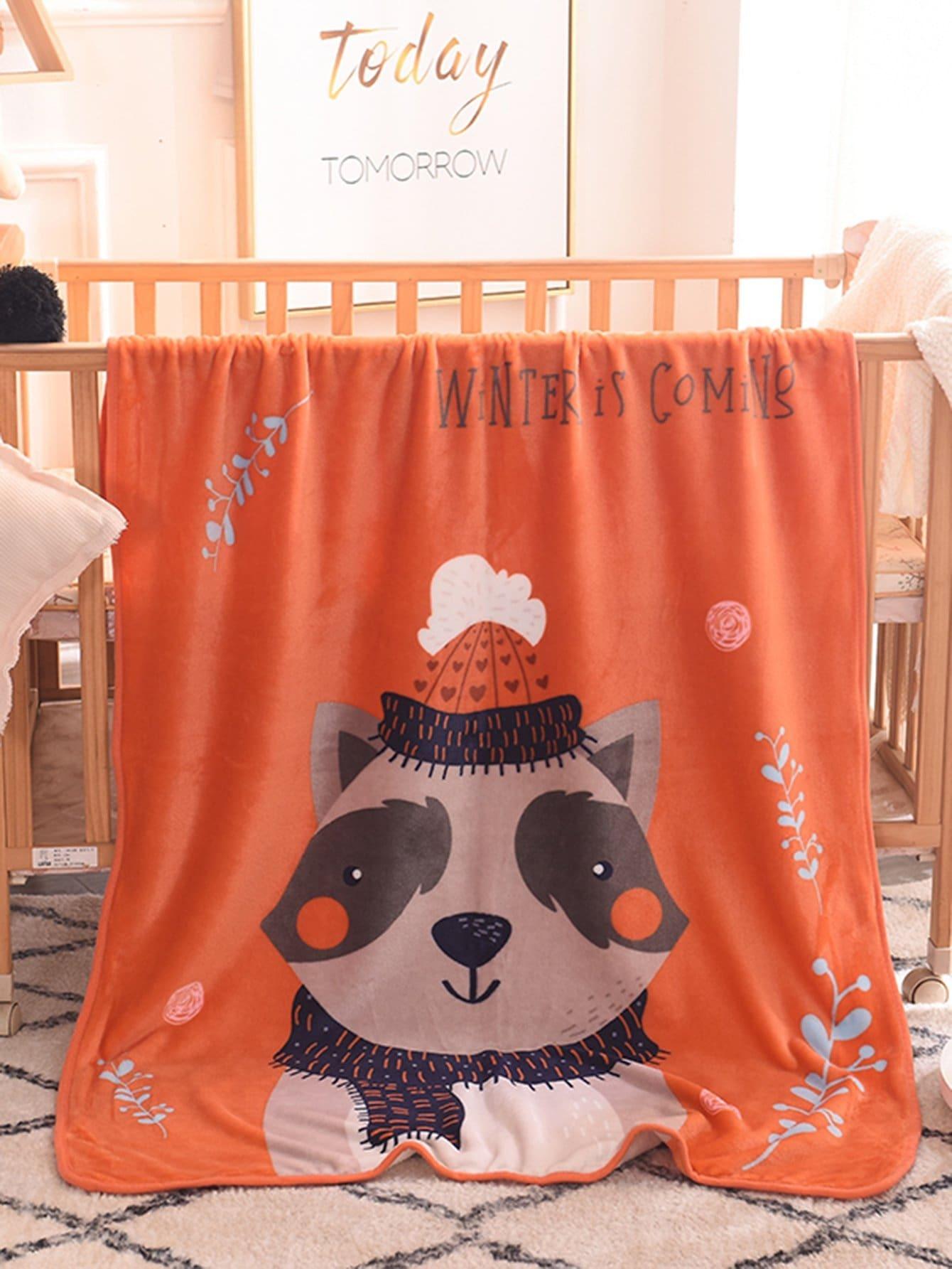 Bear Print Blanket 1 PC