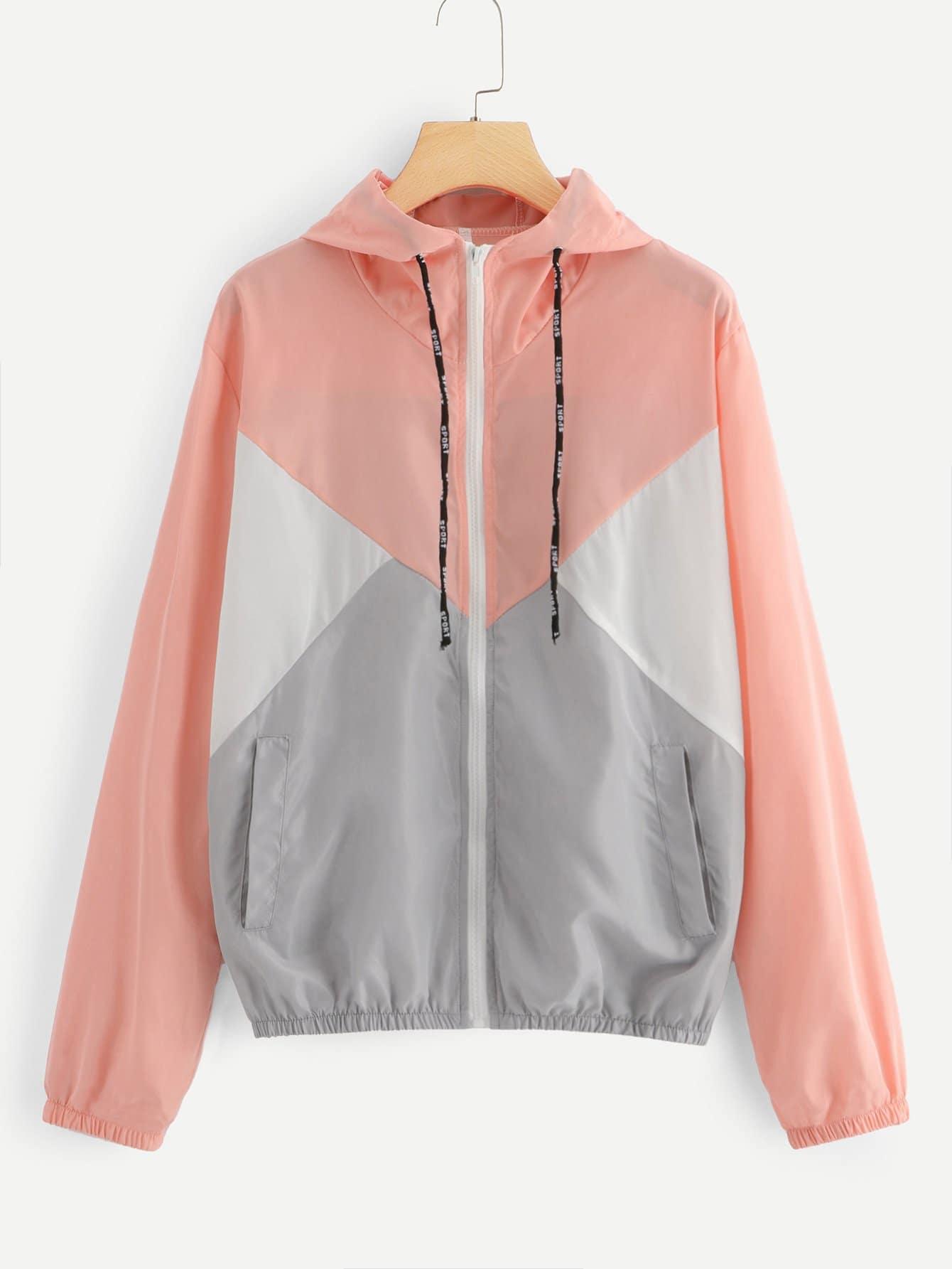 Cut und Sew Jacke mit Kapuze