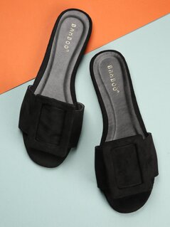Large Buckle Detail Sandals