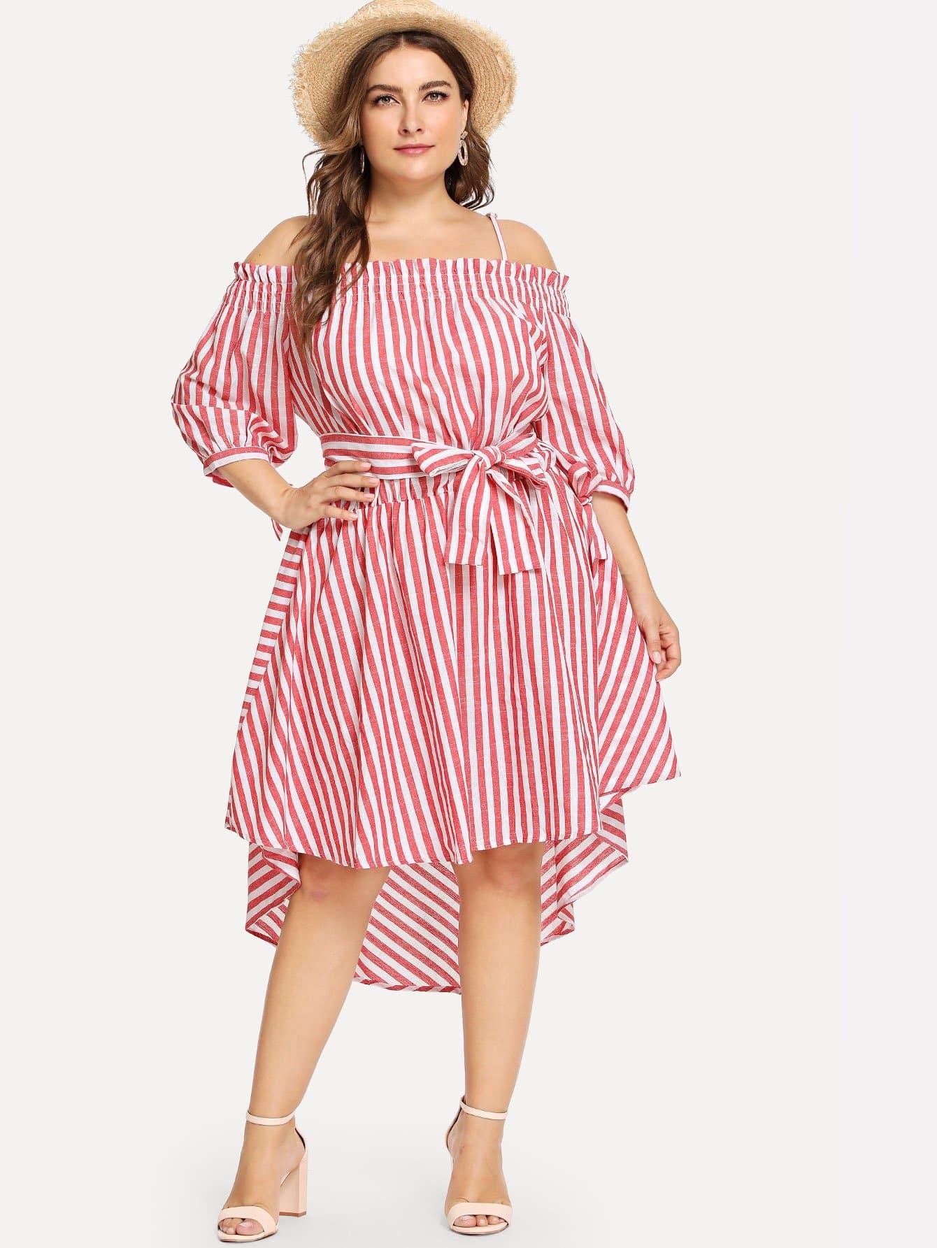 Купить Плиссированное платье без бретелек, Franziska, SheIn