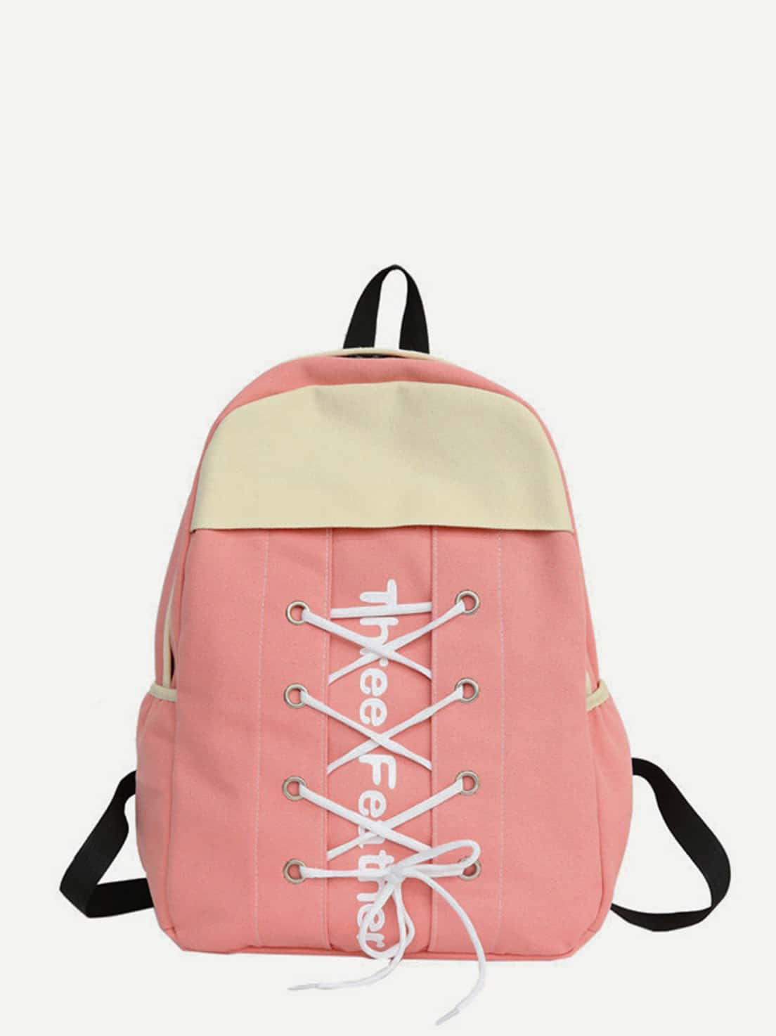 Lace Up Canvas Backpack