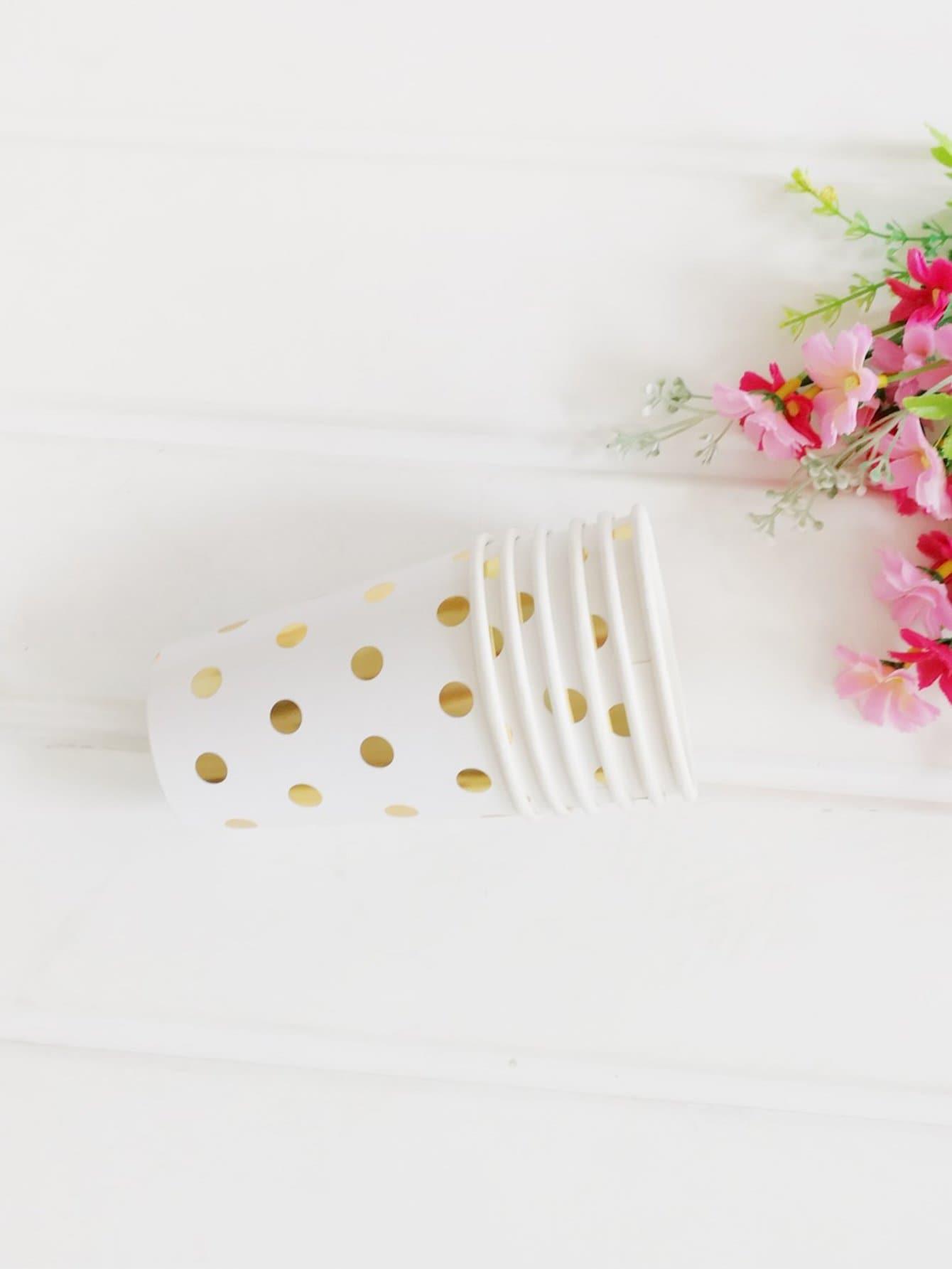 Dot Polka Paper Cup 8pcs