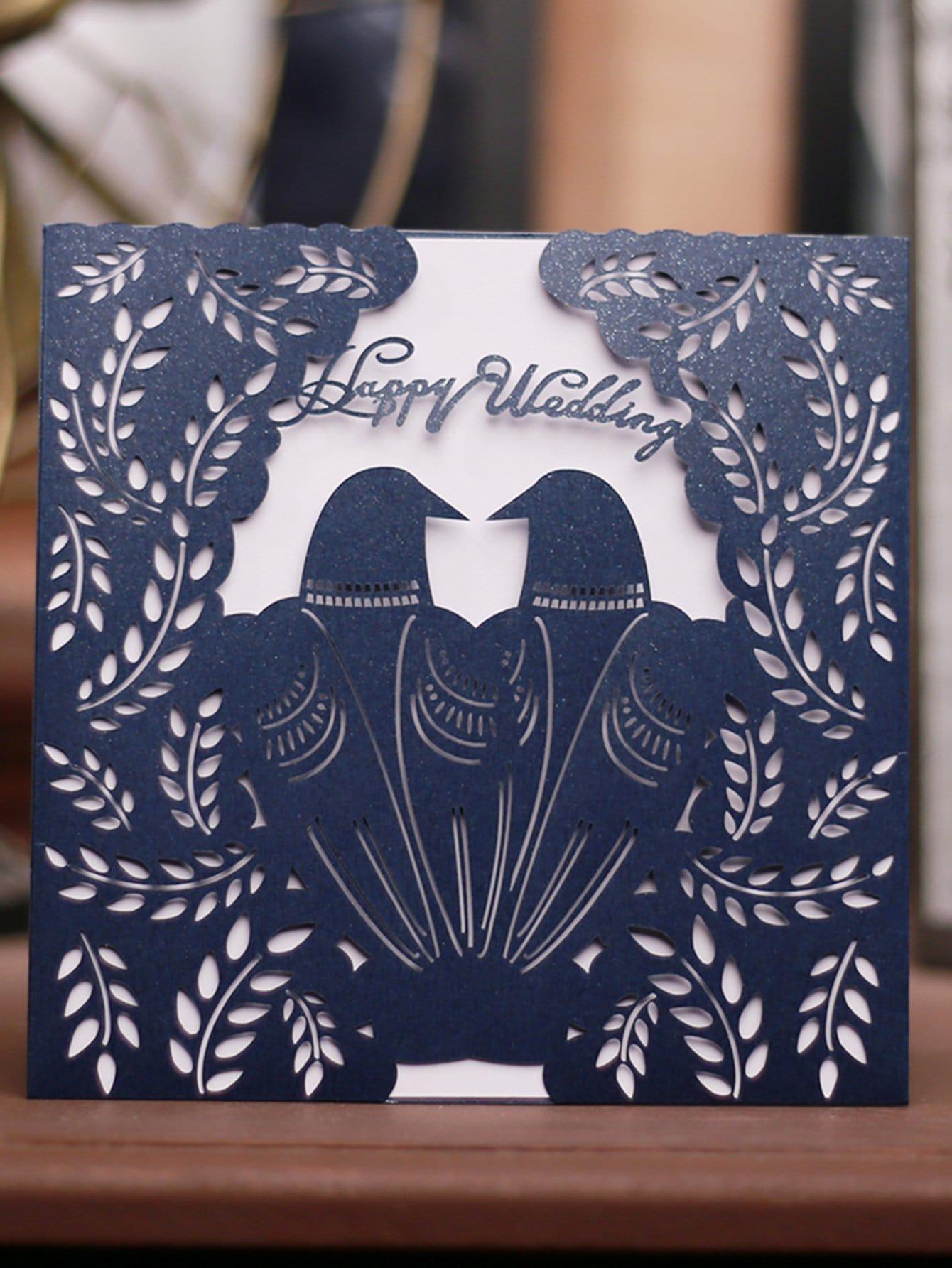 Laser Cut Invitations 10pcs & Message Card 10pcs