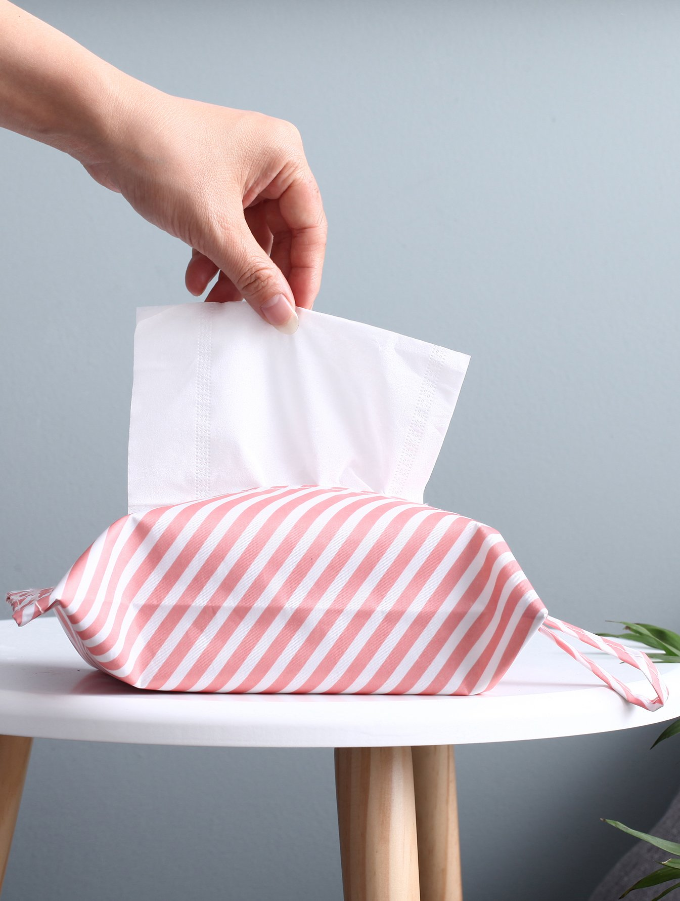 Striped Pattern Tissue Cover