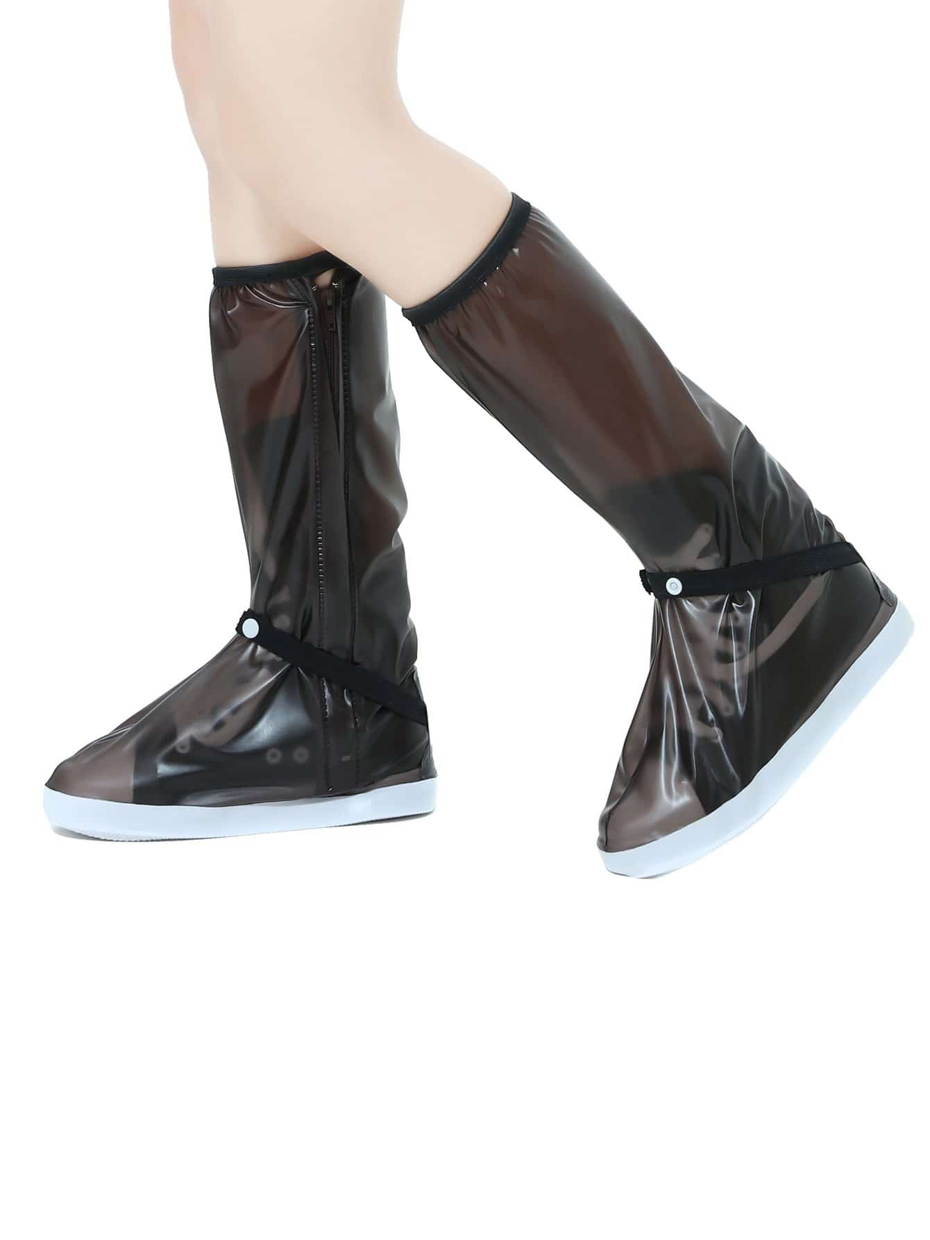 Fermeture Éclair Longue Chaussures Imperméables Couverture