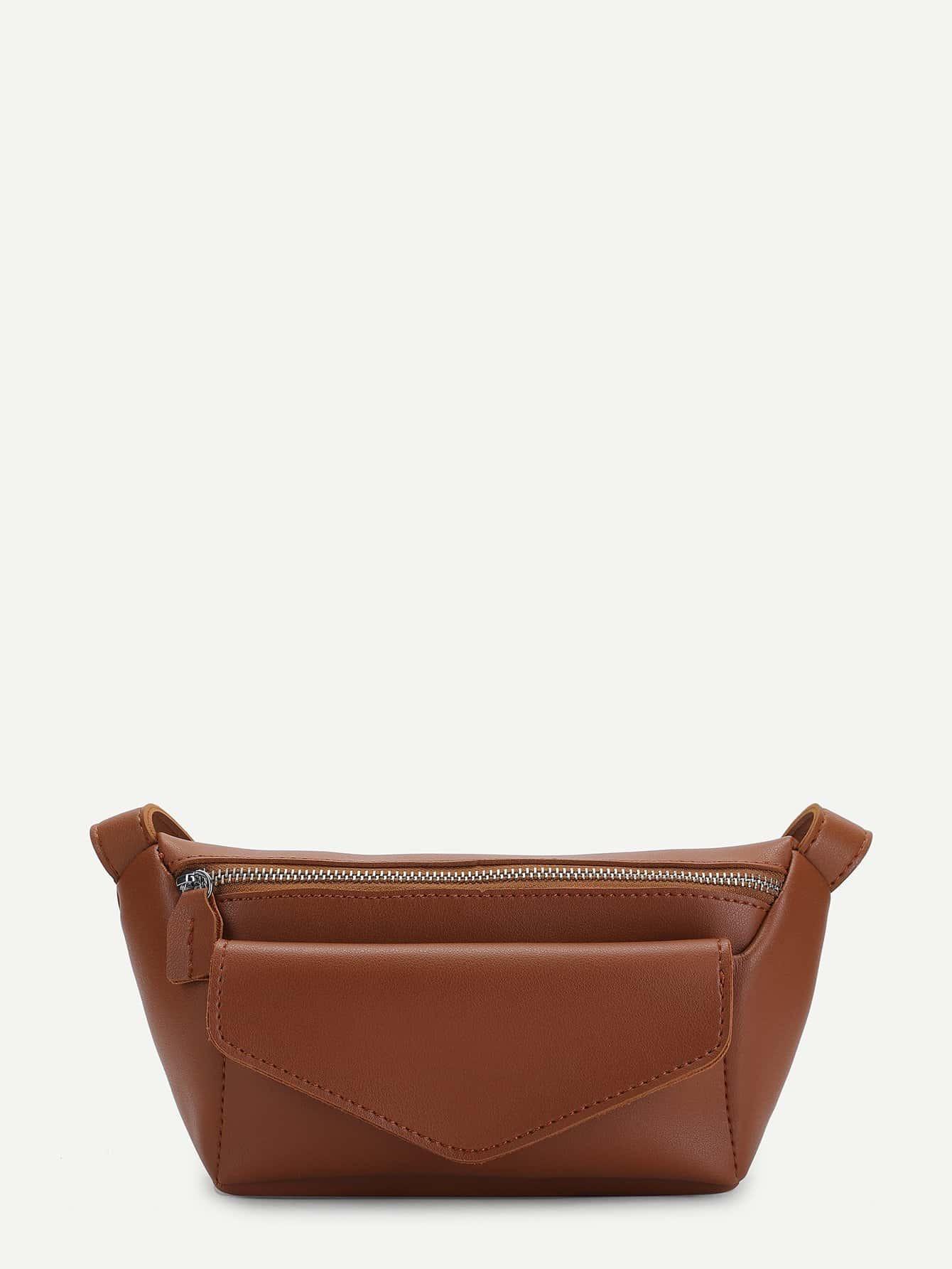 Купить Кожаный мешок талли с карманом, null, SheIn