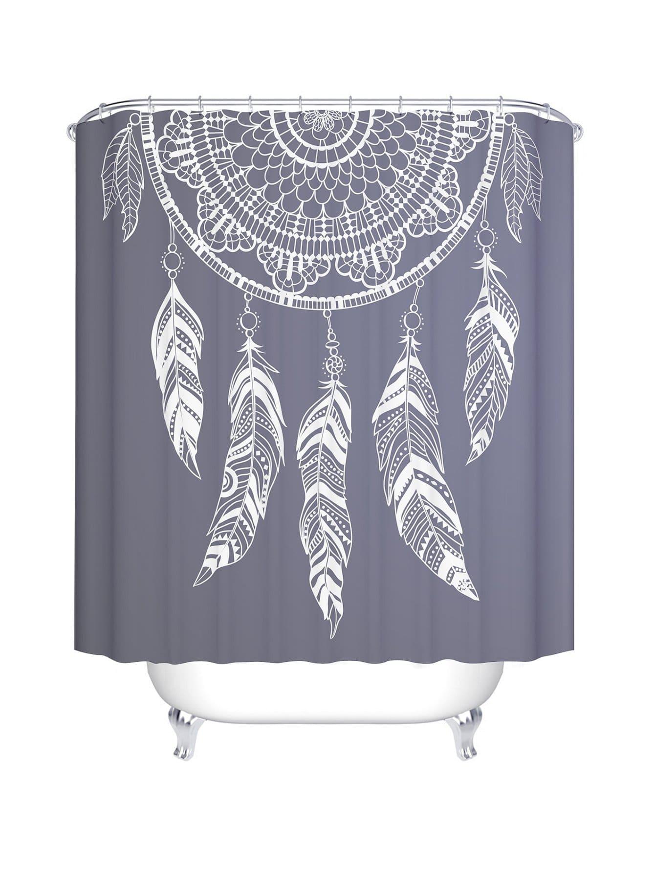 Duschvorhang mit Traumfänger Muster 12pcs Haken