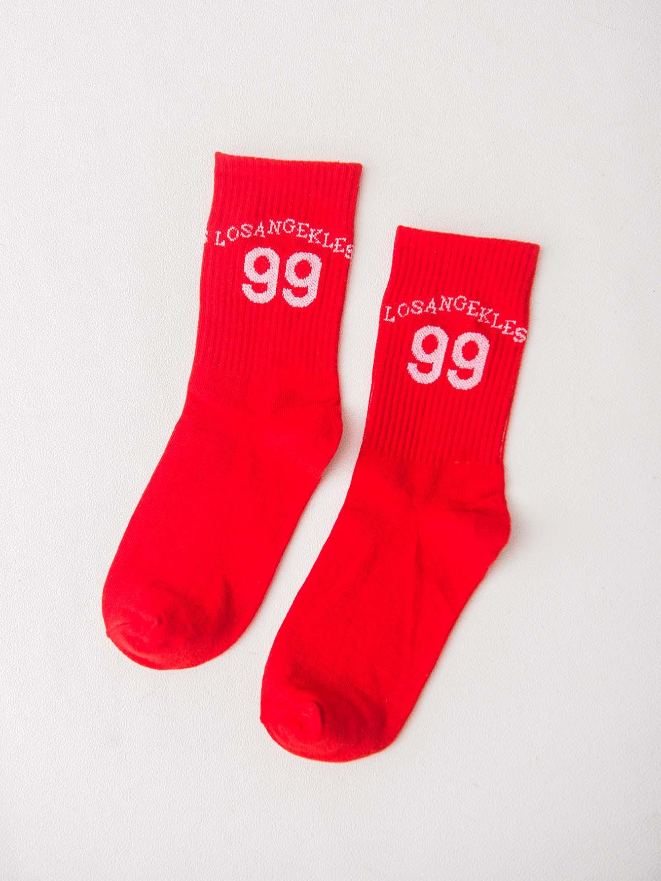 Men Letter Print Socks 1pair