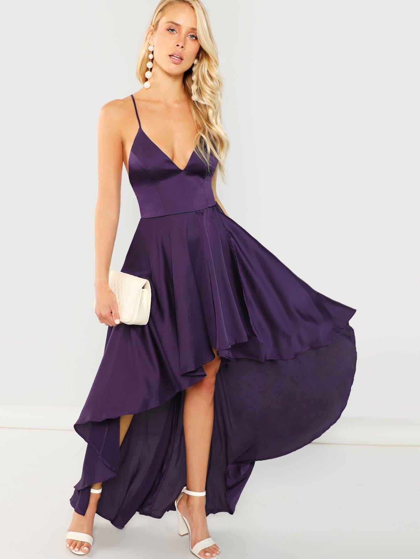 Купить Платье наспинно-плечевого обхвата, Allie Leggett, SheIn