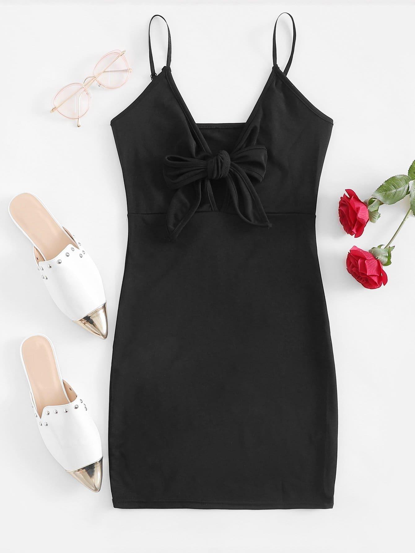 Self Tie Front Cami Dress