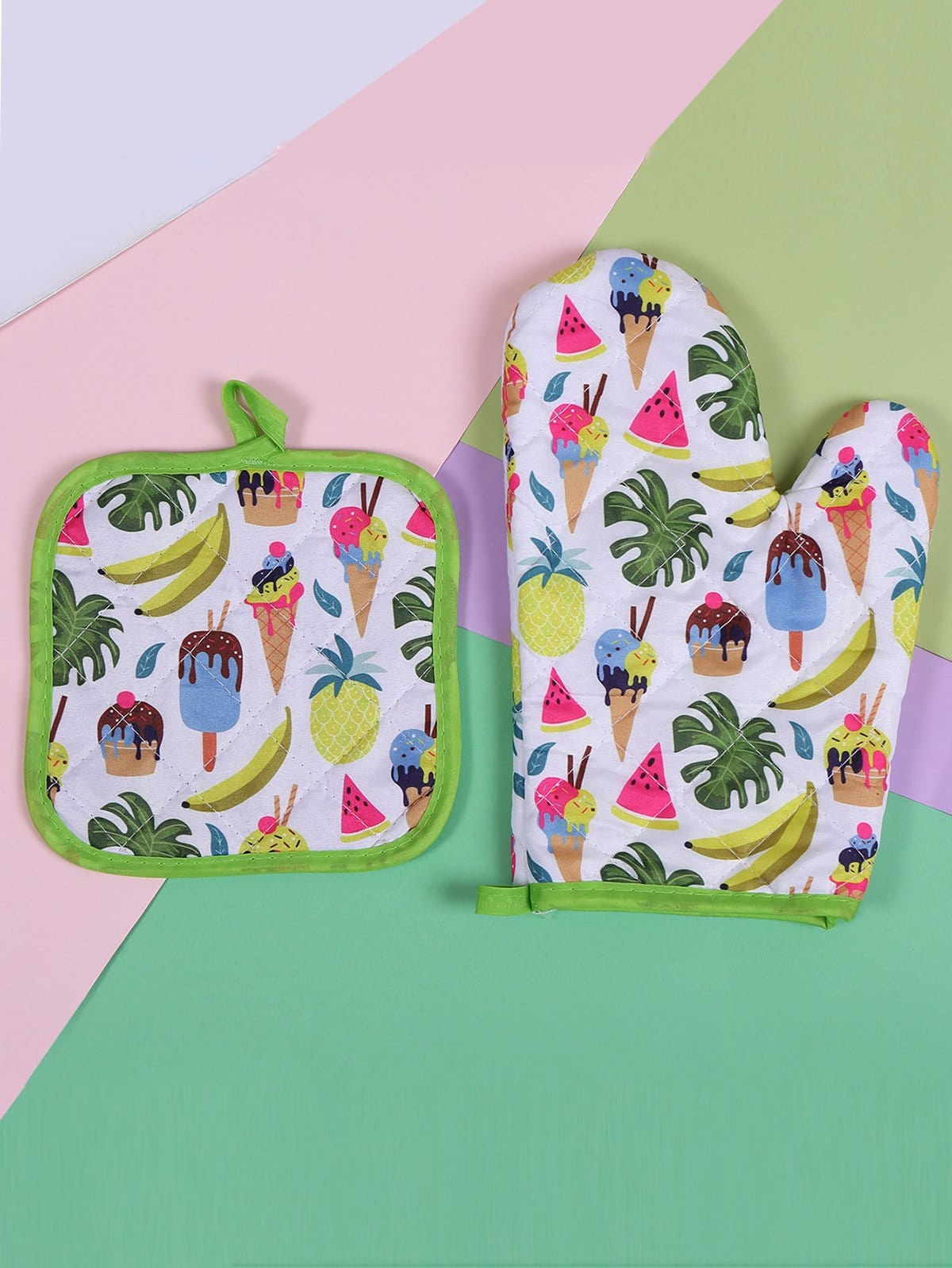 Fruit & Tropical Print Oven Glove 1pc Pad