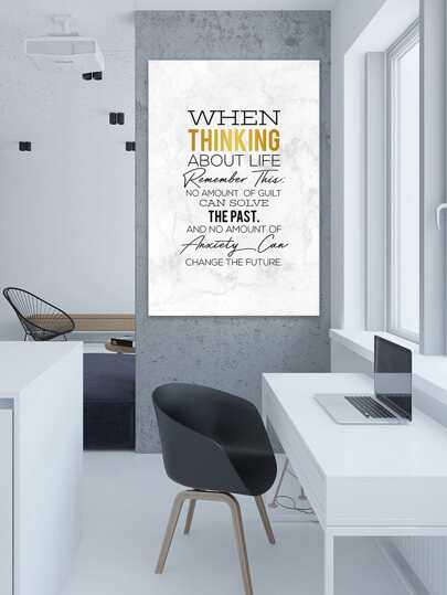 SheIn / Slogan Print Cloth Wall Art