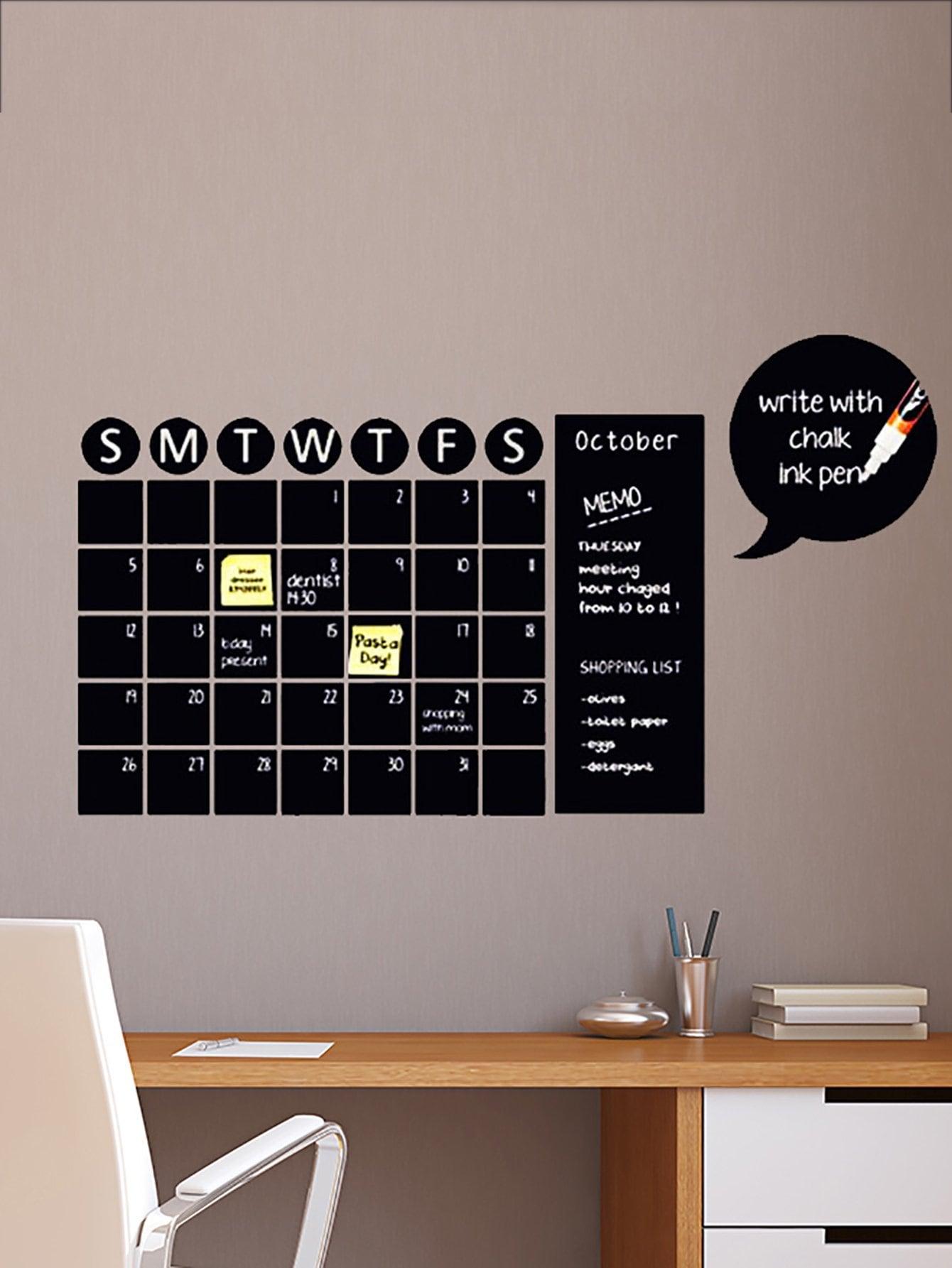 Купить Дизайн календаря наклейки на стены, null, SheIn