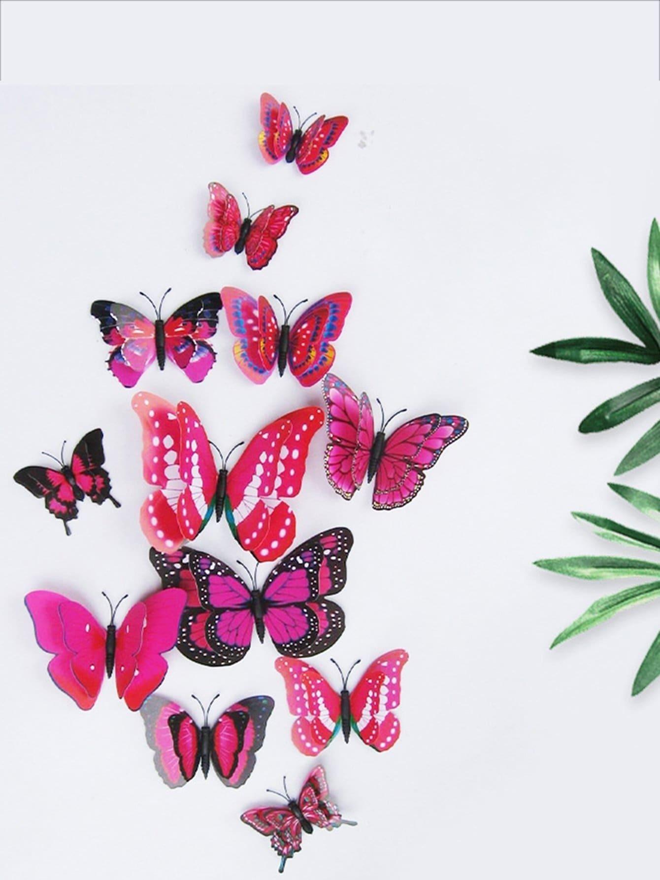 3D Schmetterling Wanddekore 12pcs