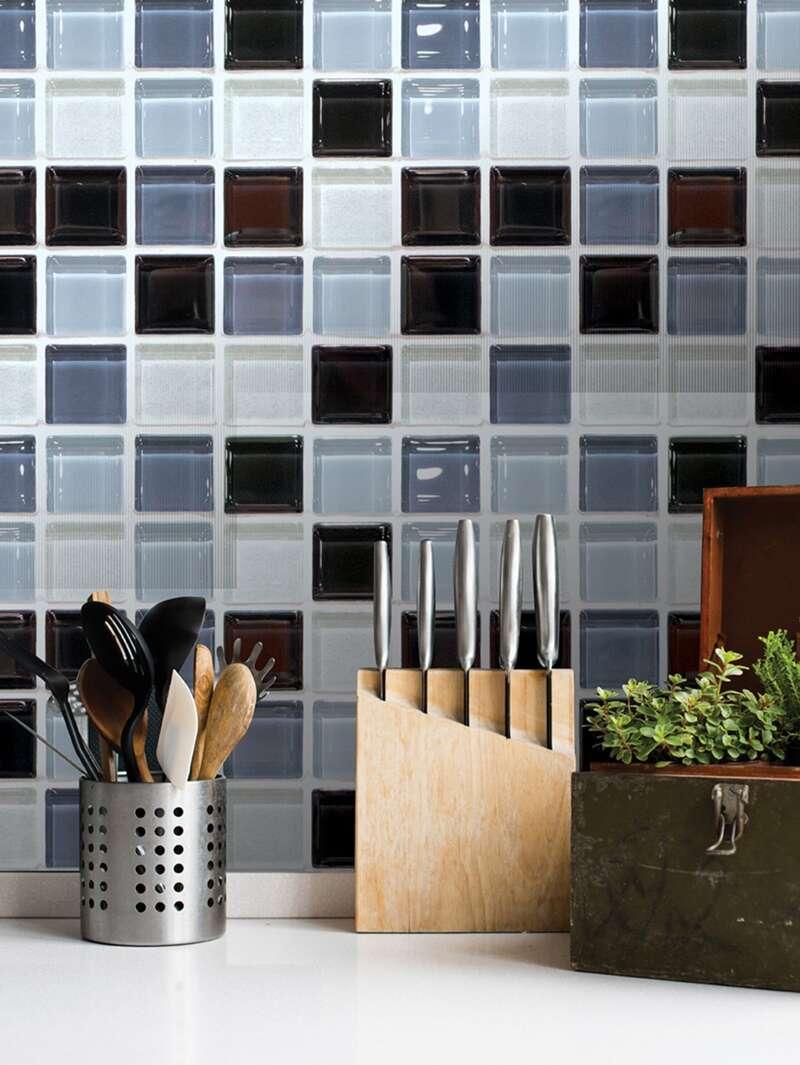 Checkerboard Print Wall Tile 6pcs