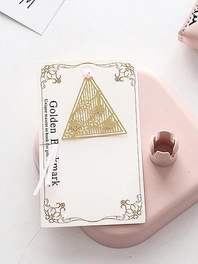 Купить Закладка с украшением треугольного ажурного цвета, null, SheIn