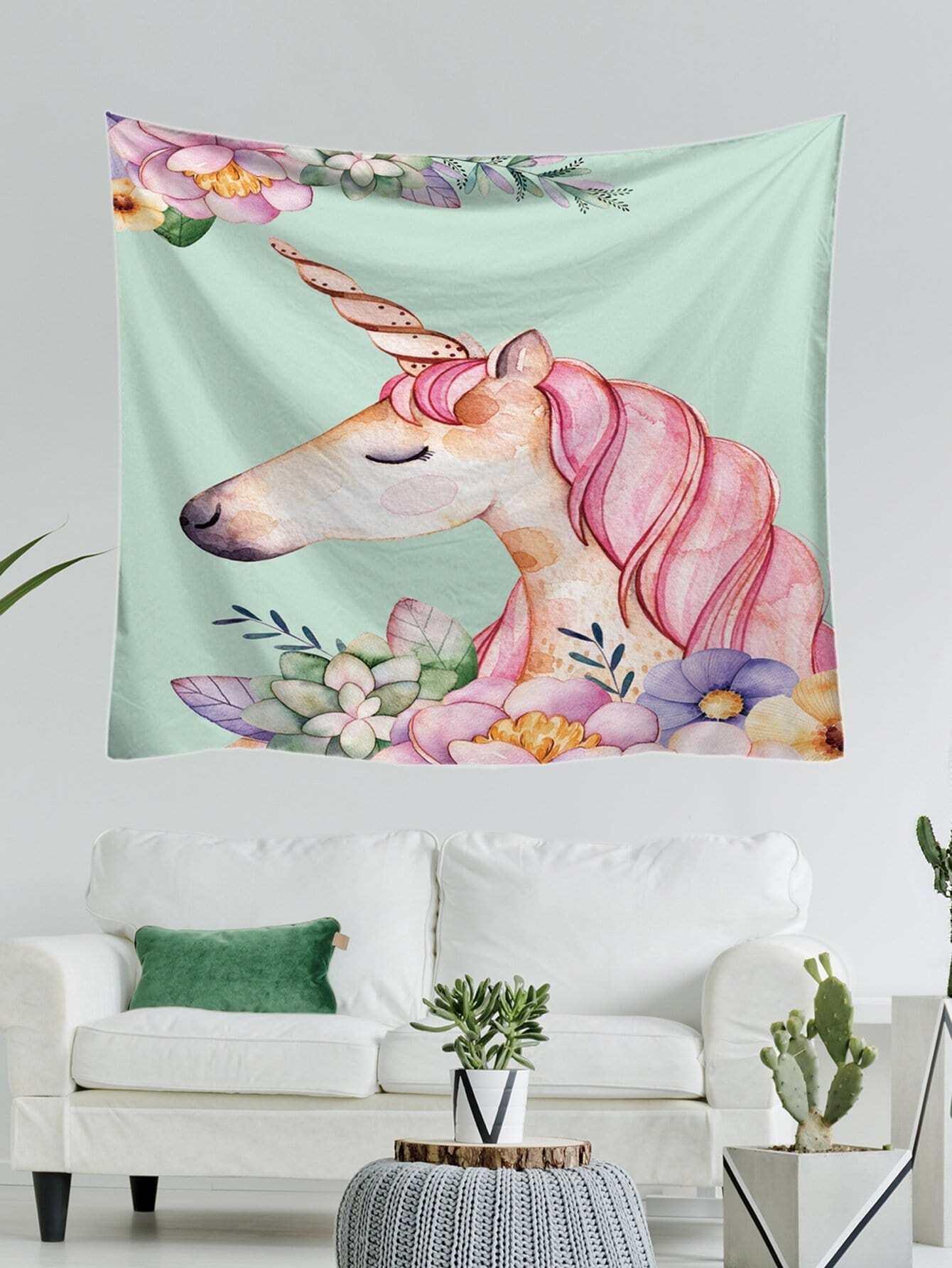 Unicorn Print Tapestry