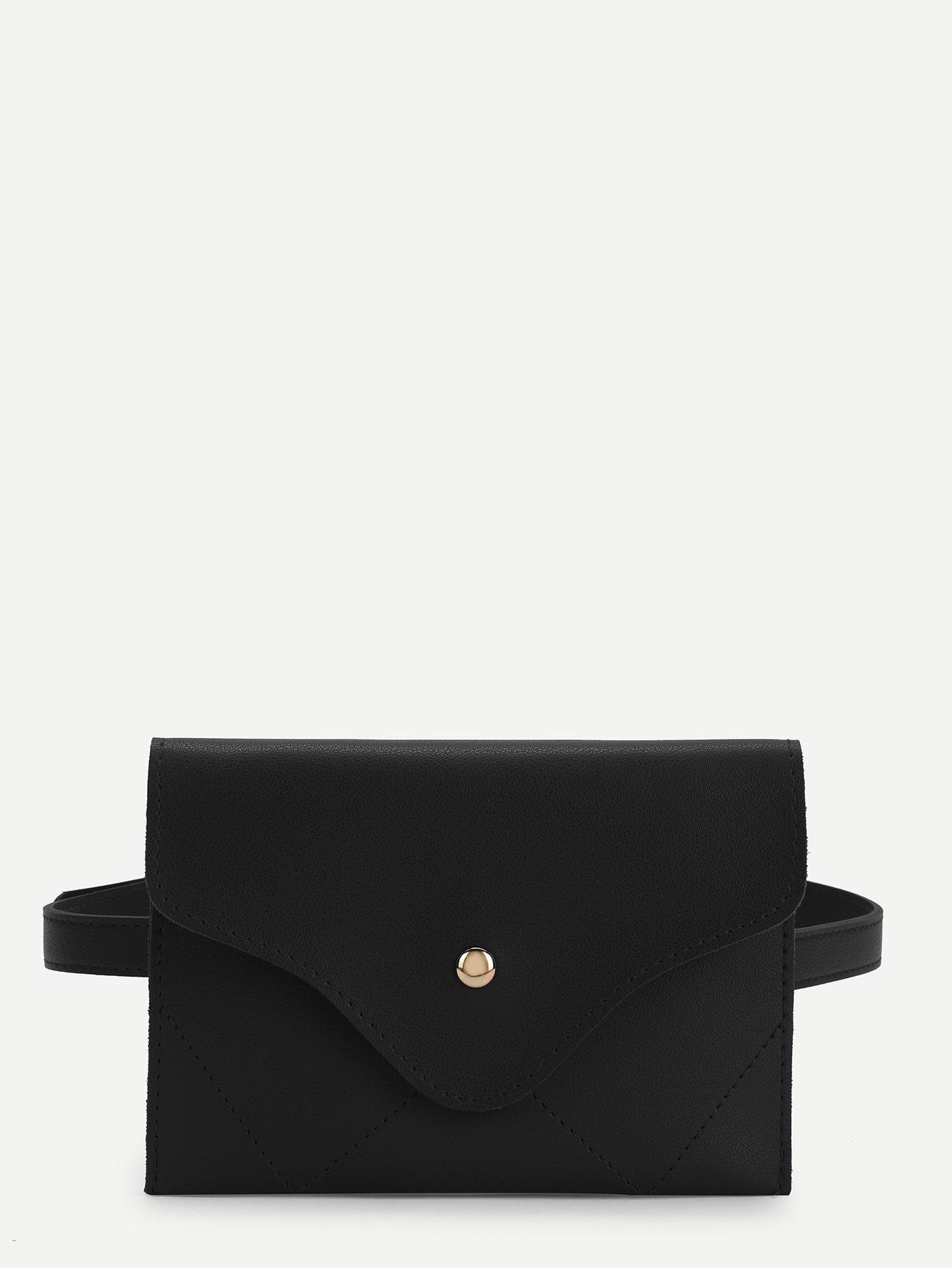 Купить Повседневный Одноцветный чёрный Поясные сумки, null, SheIn