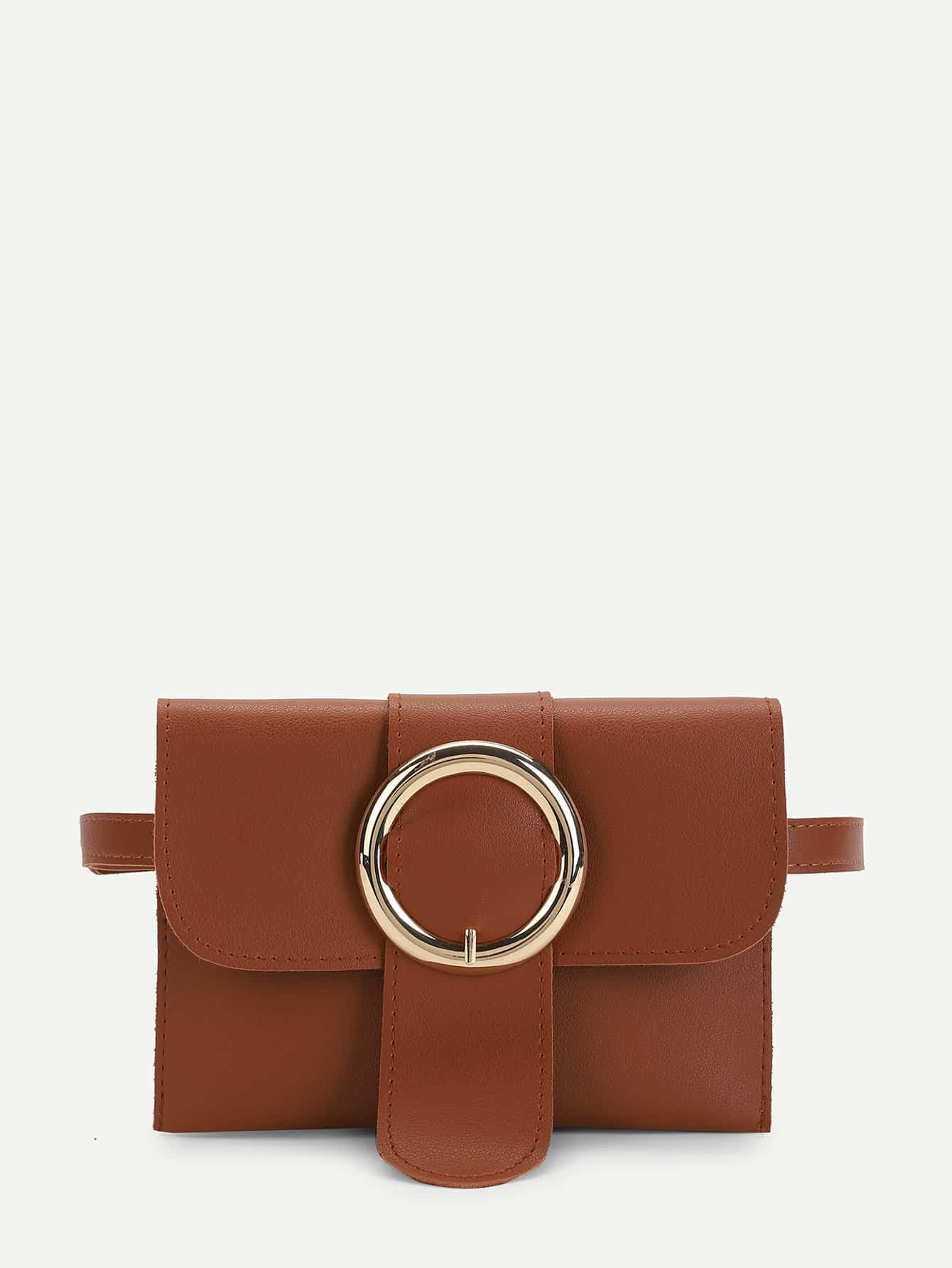 Buckle Detail Flap Bum Bag