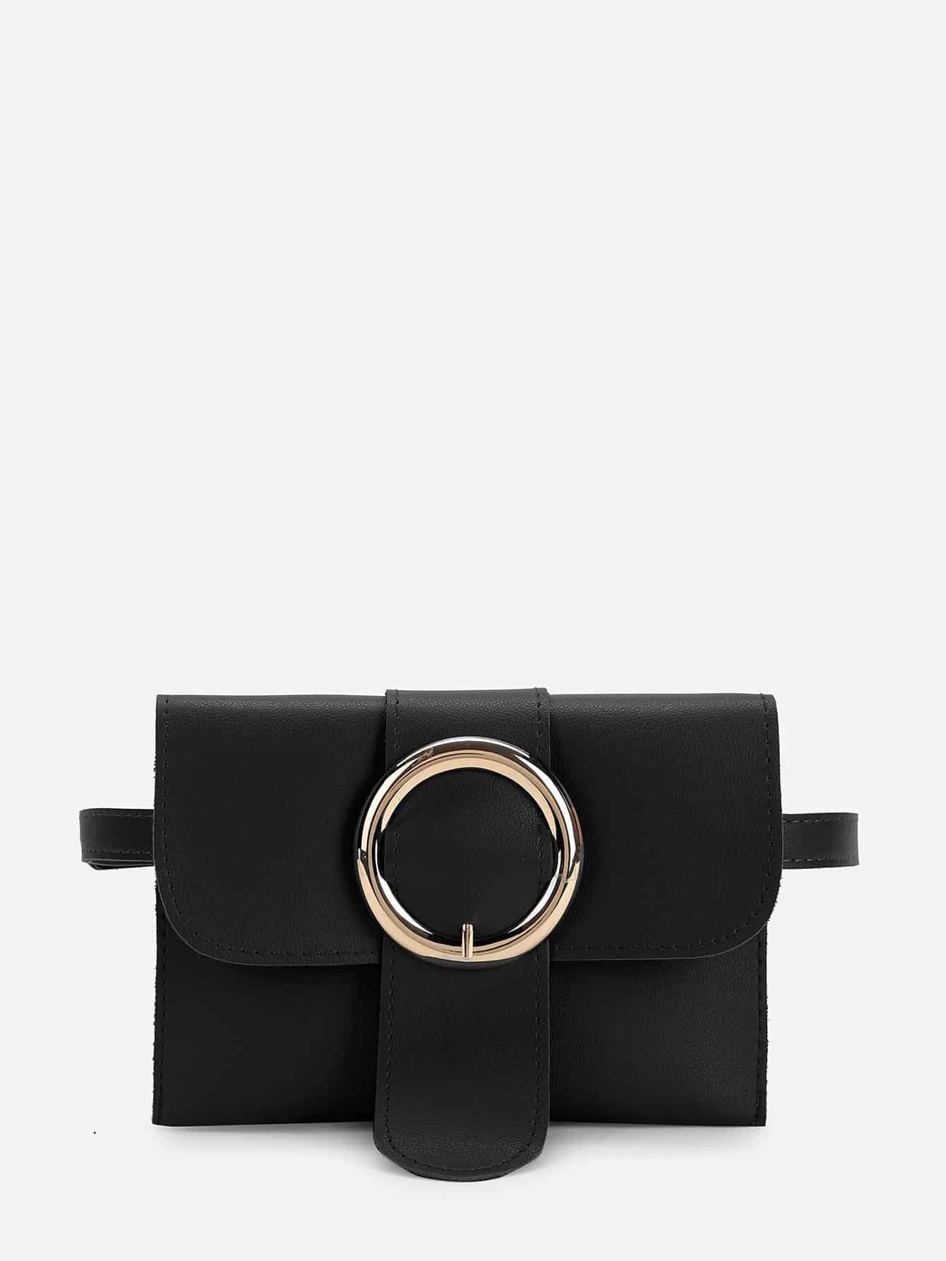 Buckle Detail PU Bum Bag