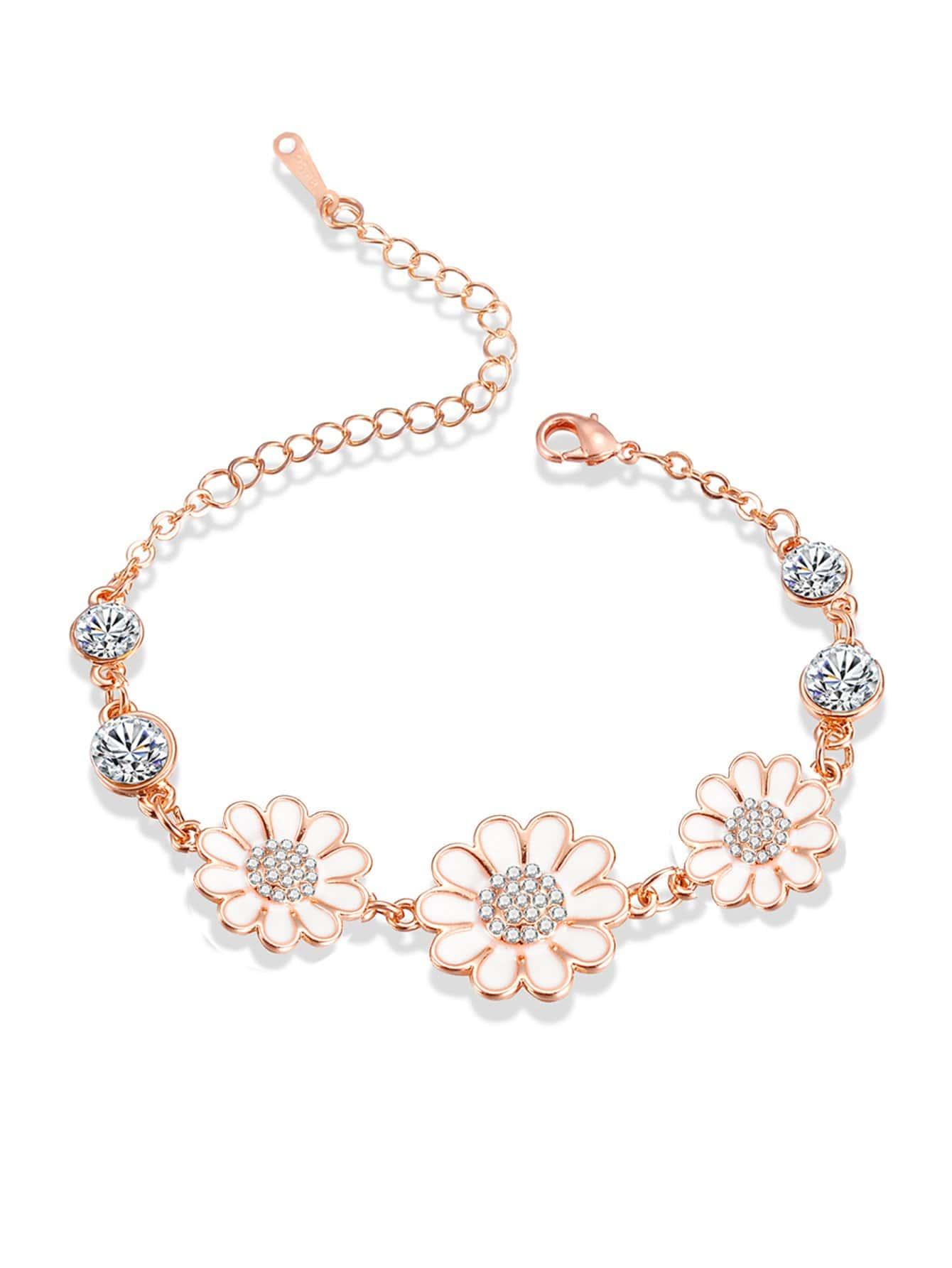 Kette Armband mit Blumen