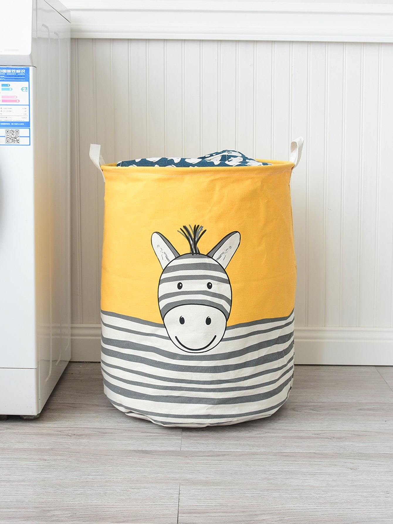 Купить Круглая корзина для хранения с рисунками лозунгов, null, SheIn