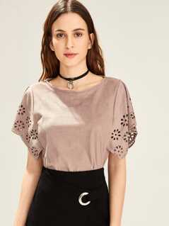 Cut Out Solid Tunic Top