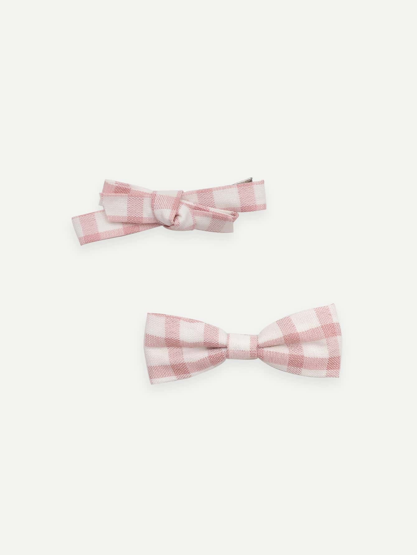 Girls Gingham Hair Clip 2pcs