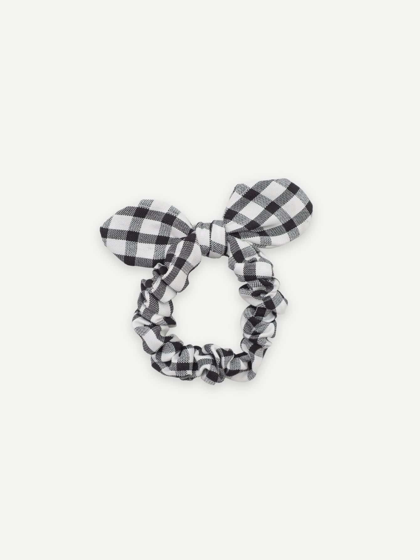 Girls Gingham Hair Tie 1pc