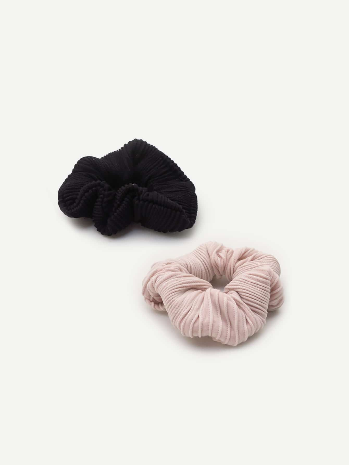 Plain Hair Scrunchie 2pcs