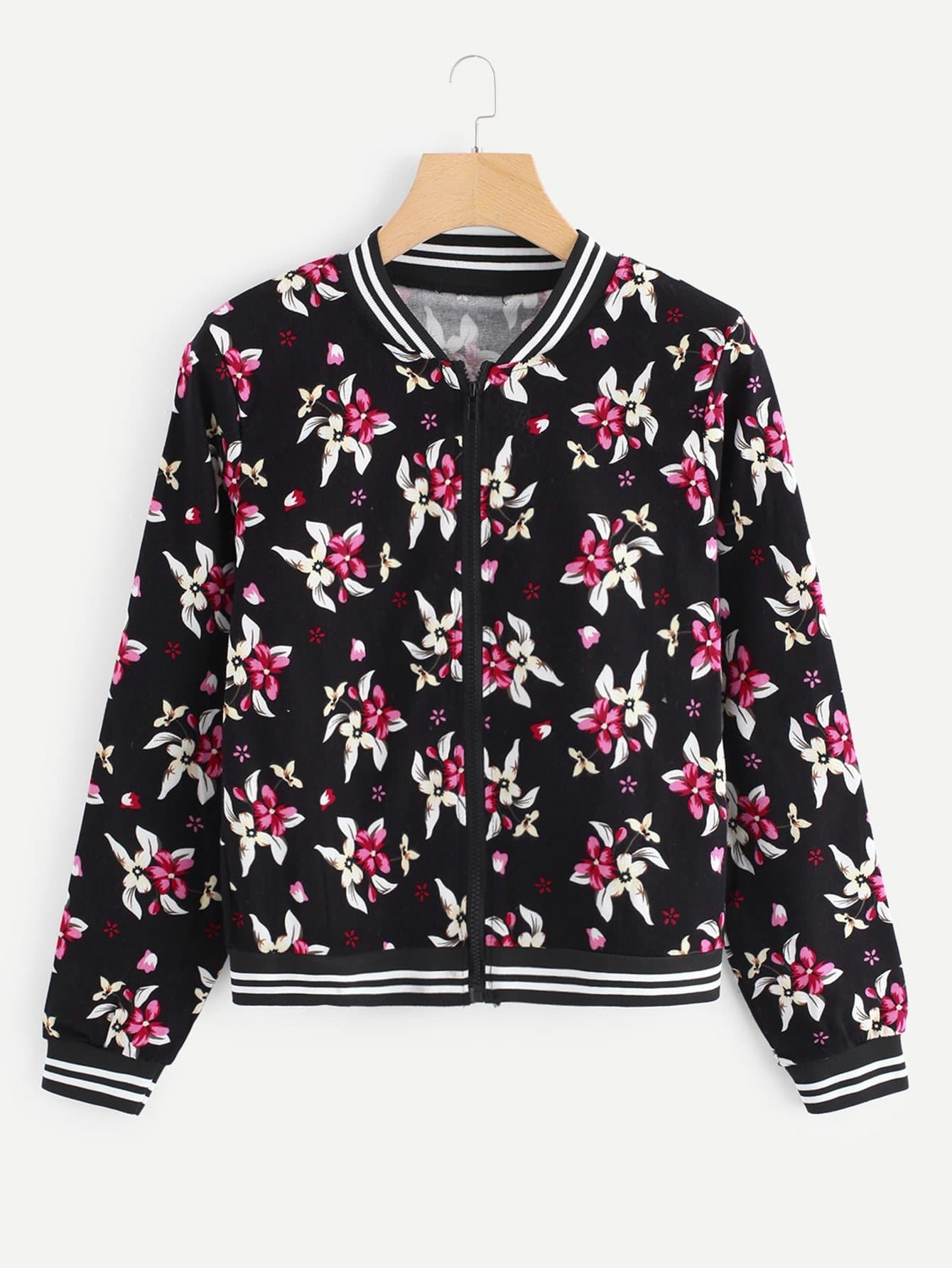 Allover Floral Print Jacket