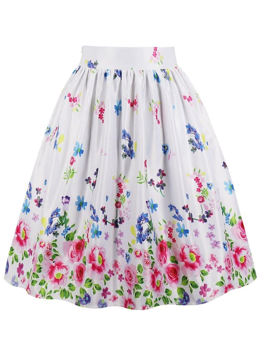 Купить Общая ситцевая юбка, null, SheIn