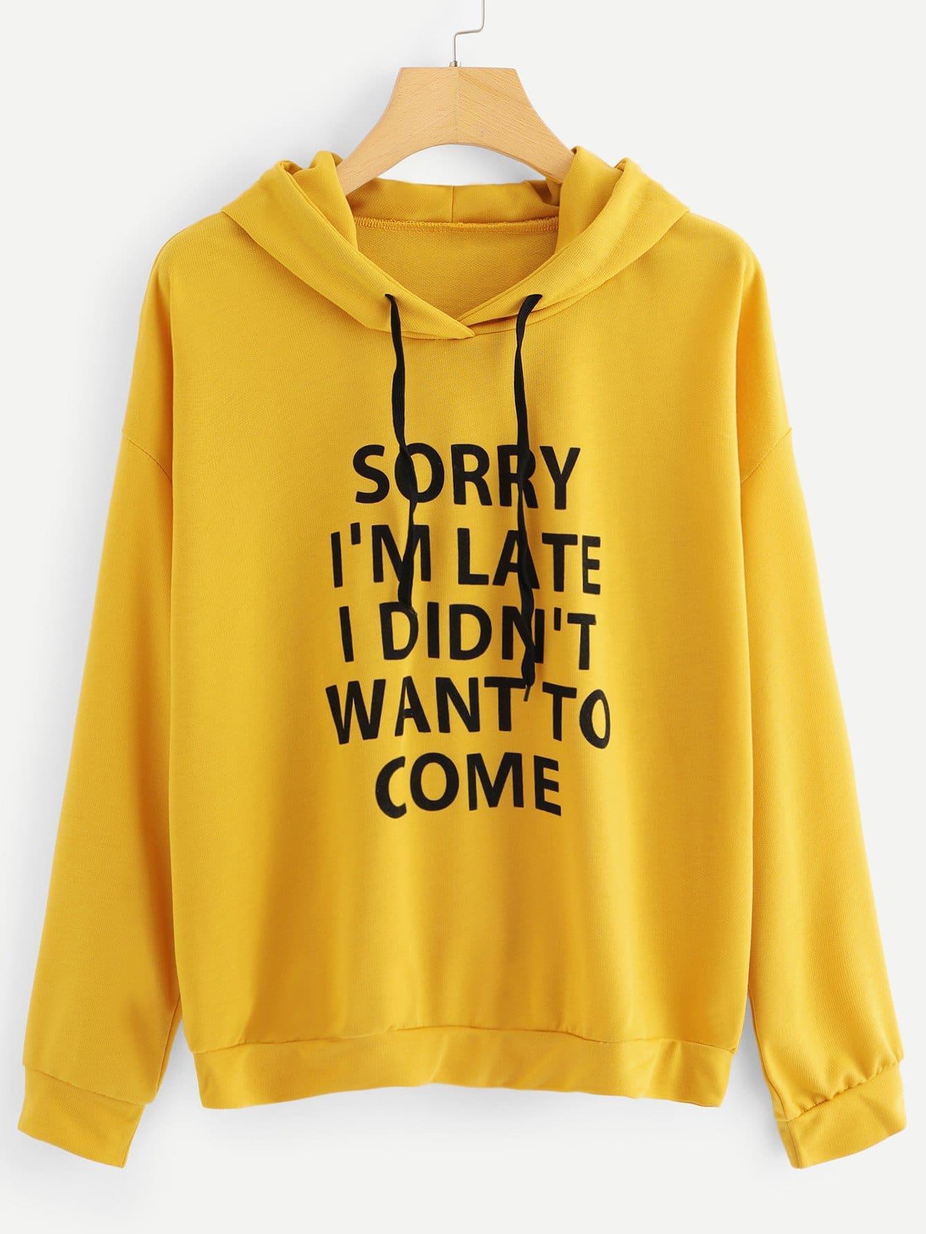 Plus Letter Print Drop Shoulder Sweatshirt
