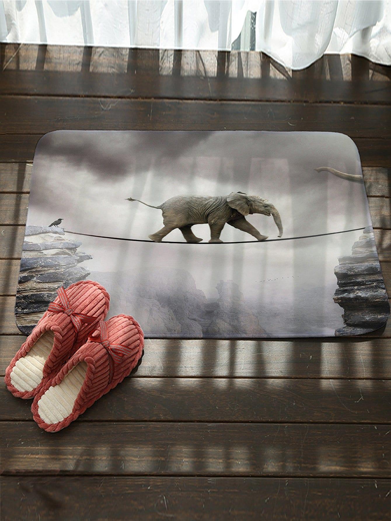 L'Éléphant D'Impression De Tapis De Sol