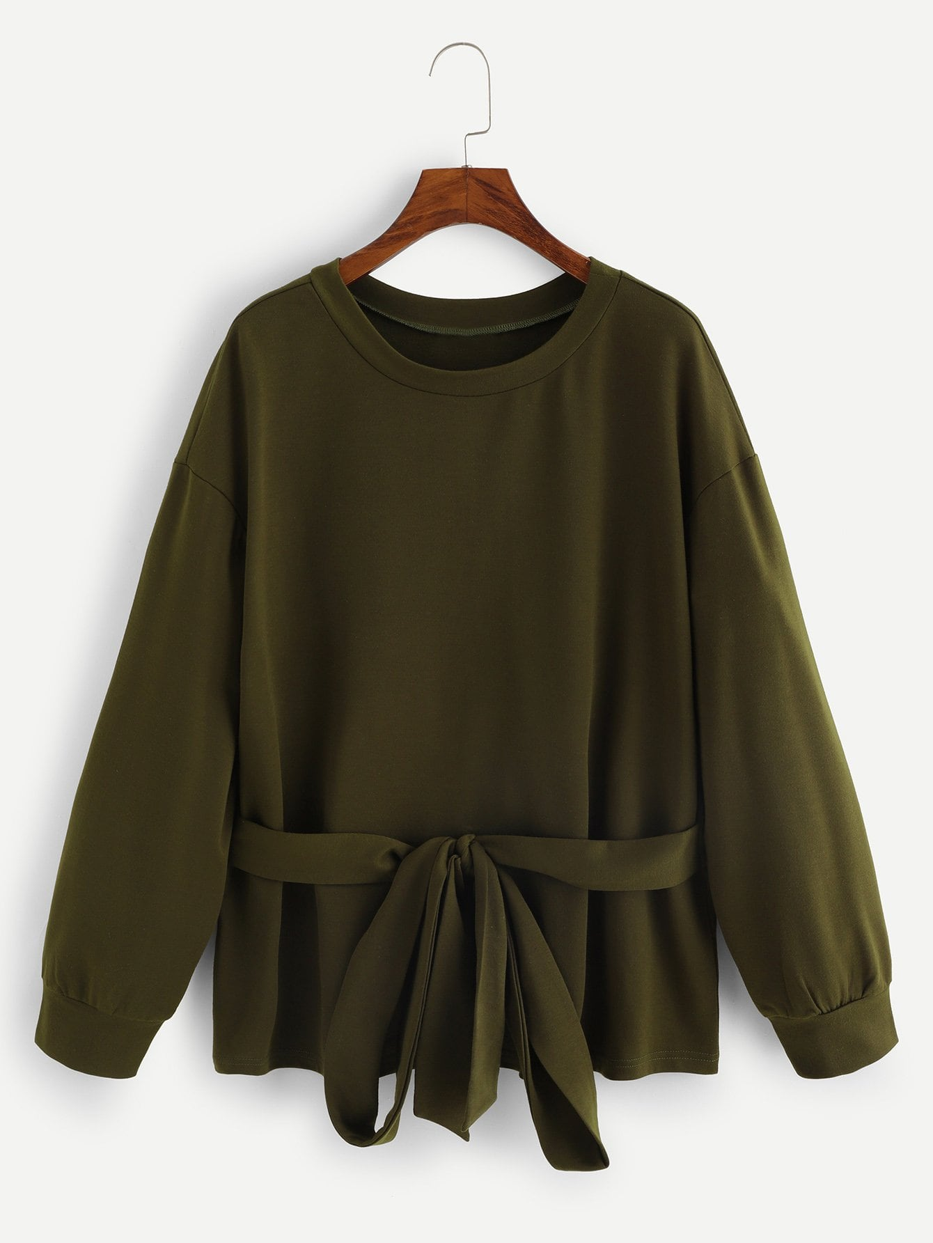 Plus Knot Solid Pullover