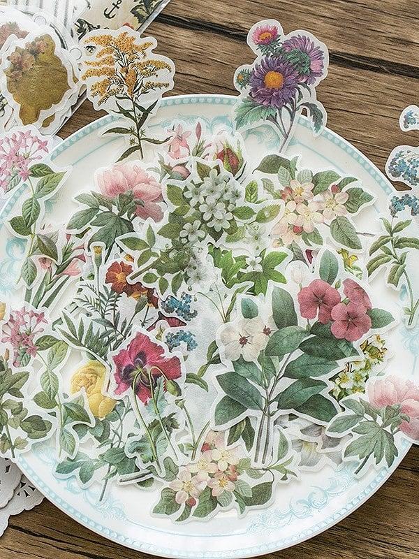 Наклейка с рисунками цветов 60 листьев, null, SheIn  - купить со скидкой